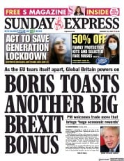 Daily Express Sunday front page for 31 January 2021