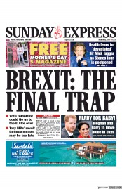 Daily Express Sunday (UK) Newspaper Front Page for 31 March 2019