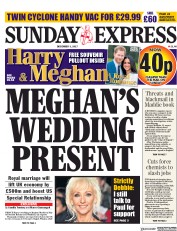 Daily Express Sunday (UK) Newspaper Front Page for 3 December 2017