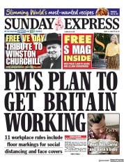 Daily Express Sunday (UK) Newspaper Front Page for 3 May 2020