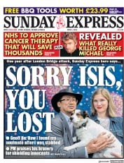 Daily Express Sunday (UK) Newspaper Front Page for 3 June 2018