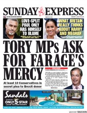 Daily Express Sunday (UK) Newspaper Front Page for 4 August 2019