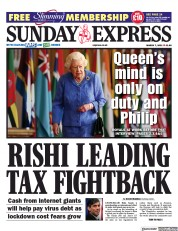 Daily Express Sunday front page for 7 March 2021