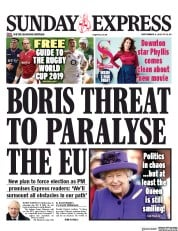 Daily Express Sunday (UK) Newspaper Front Page for 8 September 2019