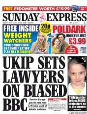 Daily Express Weekend (UK) Newspaper Front Page for 19 April 2015