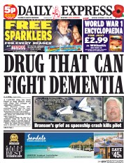 Daily Express Weekend (UK) Newspaper Front Page for 1 November 2014