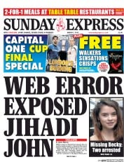 Daily Express Weekend (UK) Newspaper Front Page for 1 March 2015
