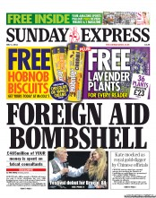 Daily Express Weekend (UK) Newspaper Front Page for 1 July 2012