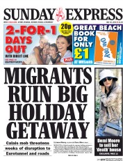 Daily Express Weekend (UK) Newspaper Front Page for 1 August 2015