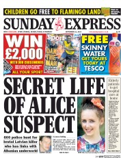 Daily Express Weekend (UK) Newspaper Front Page for 21 September 2014