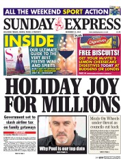 Daily Express Weekend (UK) Newspaper Front Page for 23 November 2014