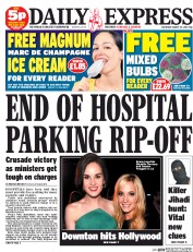 Daily Express Weekend (UK) Newspaper Front Page for 23 August 2014