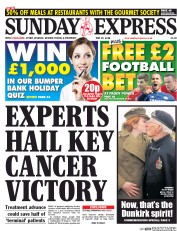 Daily Express Weekend (UK) Newspaper Front Page for 24 May 2015