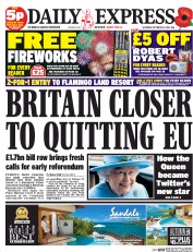 Daily Express Weekend (UK) Newspaper Front Page for 25 October 2014