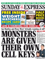 Daily Express Weekend (UK) Newspaper Front Page for 25 January 2015