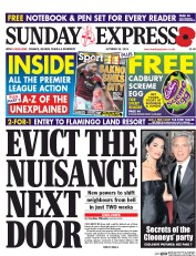 Daily Express Weekend (UK) Newspaper Front Page for 26 October 2014