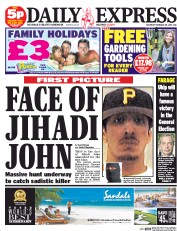 Daily Express Weekend (UK) Newspaper Front Page for 28 February 2015