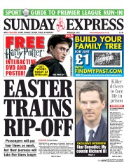 Daily Express Weekend (UK) Newspaper Front Page for 29 March 2015