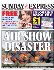 Daily Express Weekend (UK) Newspaper Front Page for 29 August 2015