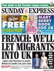 Daily Express Weekend (UK) Newspaper Front Page for 2 August 2015