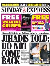 Daily Express Weekend (UK) Newspaper Front Page for 31 August 2014