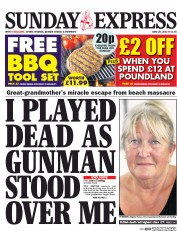Daily Express Weekend (UK) Newspaper Front Page for 4 July 2015
