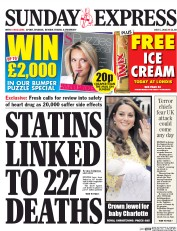 Daily Express Weekend (UK) Newspaper Front Page for 5 July 2015