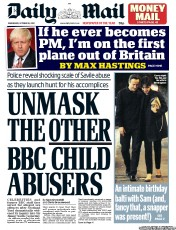Daily Mail Newspaper Front Page (UK) for 10 October 2012