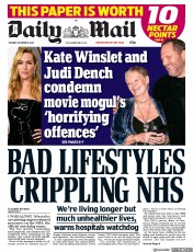 Daily Mail (UK) Newspaper Front Page for 10 October 2017