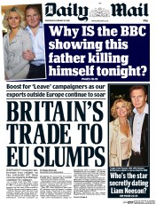 Daily Mail (UK) Newspaper Front Page for 10 February 2016