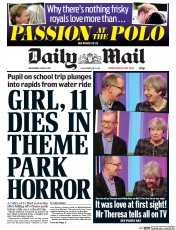Daily Mail (UK) Newspaper Front Page for 10 May 2017