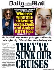 Daily Mail front page for 10 July 2020