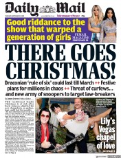 Daily Mail front page for 10 September 2020