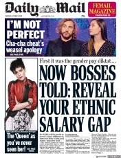 Daily Mail (UK) Newspaper Front Page for 11 October 2018