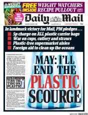 Daily Mail (UK) Newspaper Front Page for 11 January 2018
