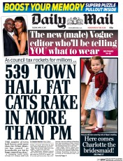 Daily Mail (UK) Newspaper Front Page for 11 April 2017