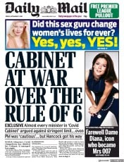 Daily Mail front page for 11 September 2020