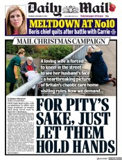 Daily Mail front page for 12 November 2020