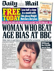 Daily Mail (UK) Newspaper Front Page for 12 January 2011