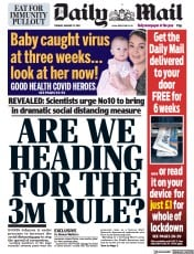 Daily Mail front page for 12 January 2021