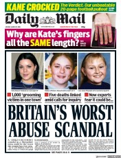 Daily Mail (UK) Newspaper Front Page for 12 March 2018