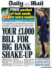 Daily Mail (UK) Newspaper Front Page for 12 April 2011