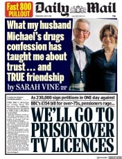 Daily Mail () Newspaper Front Page for 12 June 2019