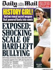 Image result for daily mail front page 12 july 2017
