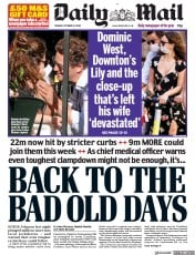 Daily Mail front page for 13 October 2020