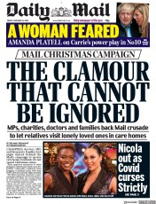Daily Mail front page for 13 November 2020