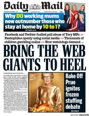 Daily Mail (UK) Newspaper Front Page for 13 December 2017