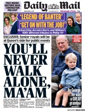 Daily Mail front page for 13 April 2021