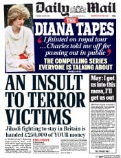 Daily Mail (UK) Newspaper Front Page for 13 June 2017