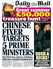 Daily Mail front page for 13 July 2020